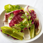 Herb, radicchio and leafy green salad