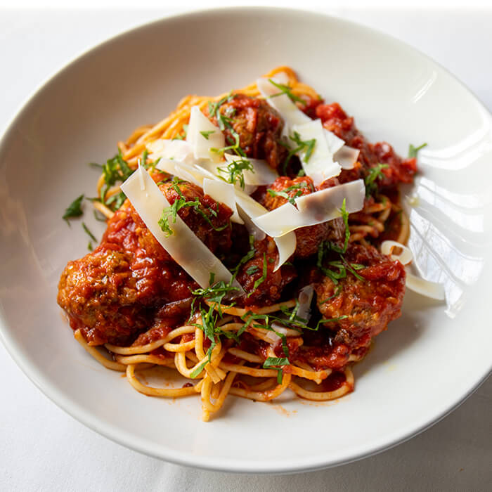 Spaghetti Meatballs, 3 course Dinner for Two