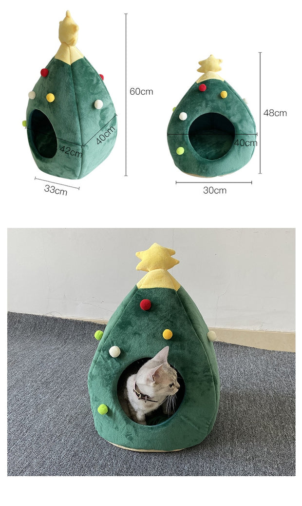Christmas dog cat bed winter