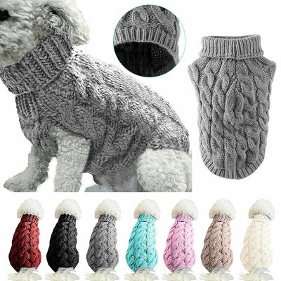 High Collar Sweater For Pet