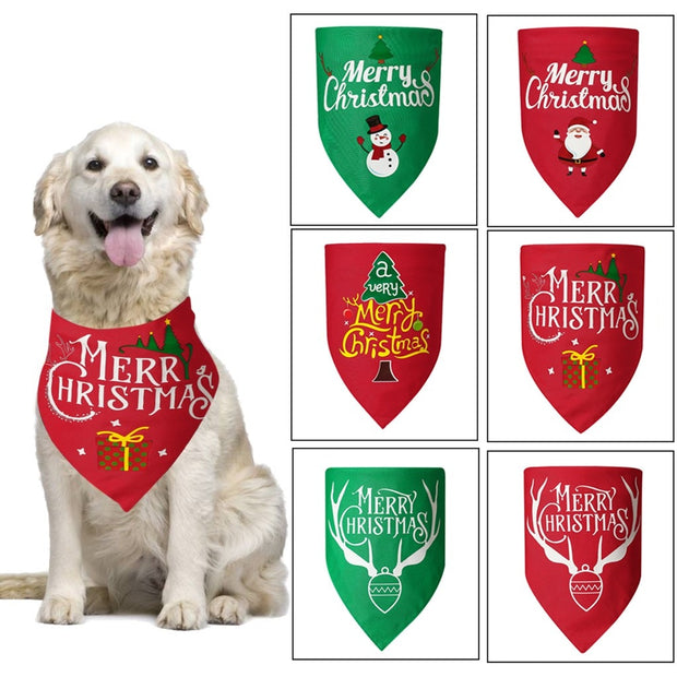 Pet Neckerchief Cat Dog  Christmas