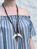 Bronzite Statement Horn Necklace