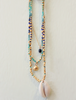 Blue Mix Shell Necklace