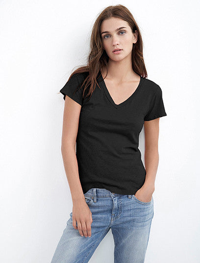 Lilith Thin Slub V-Neck Tee