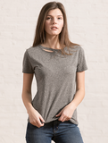 Harlow Distressed BFF Tee in Grey