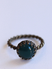 Green Circular Bague Ring
