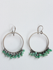 Hoops with Chrysoprase Drop Stones