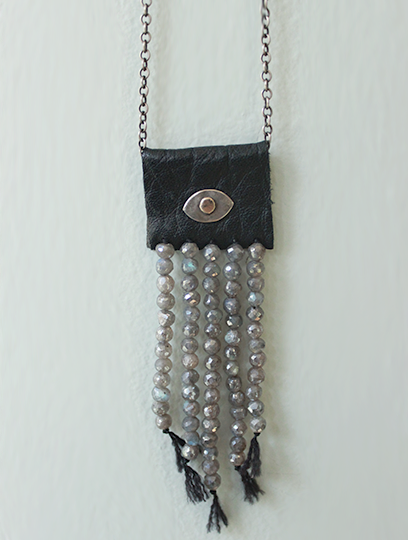 Leather Tab Necklace