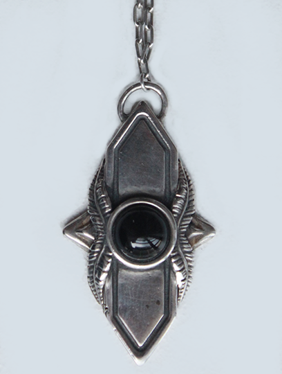 Shield Pendant with Onyx