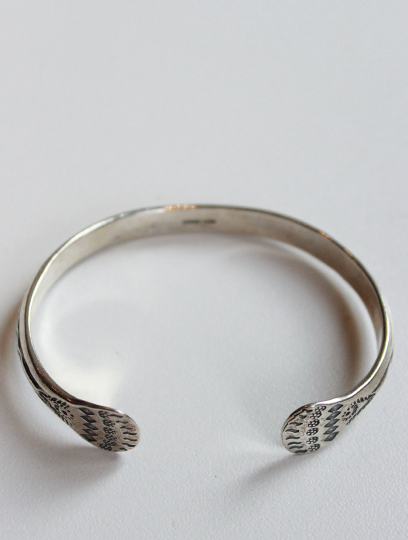 Silver Etched Bangle