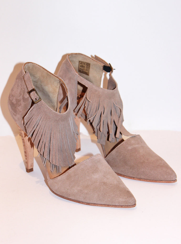 Rosaura Heel with Fringe by Huma Blanco