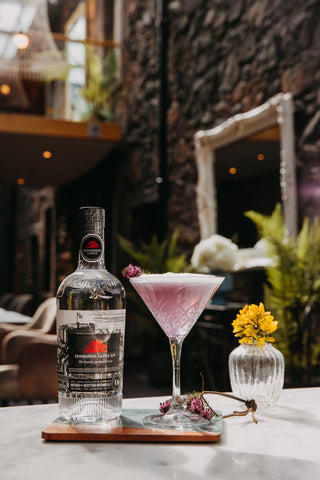Edinburgh Castle Gin and The Crown Jewel cocktail