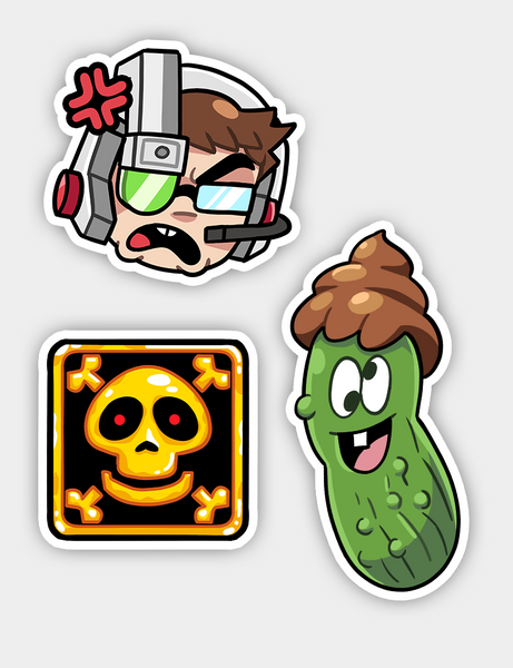 AVGN 1 & 2 Deluxe - 3 Sticker Bundle