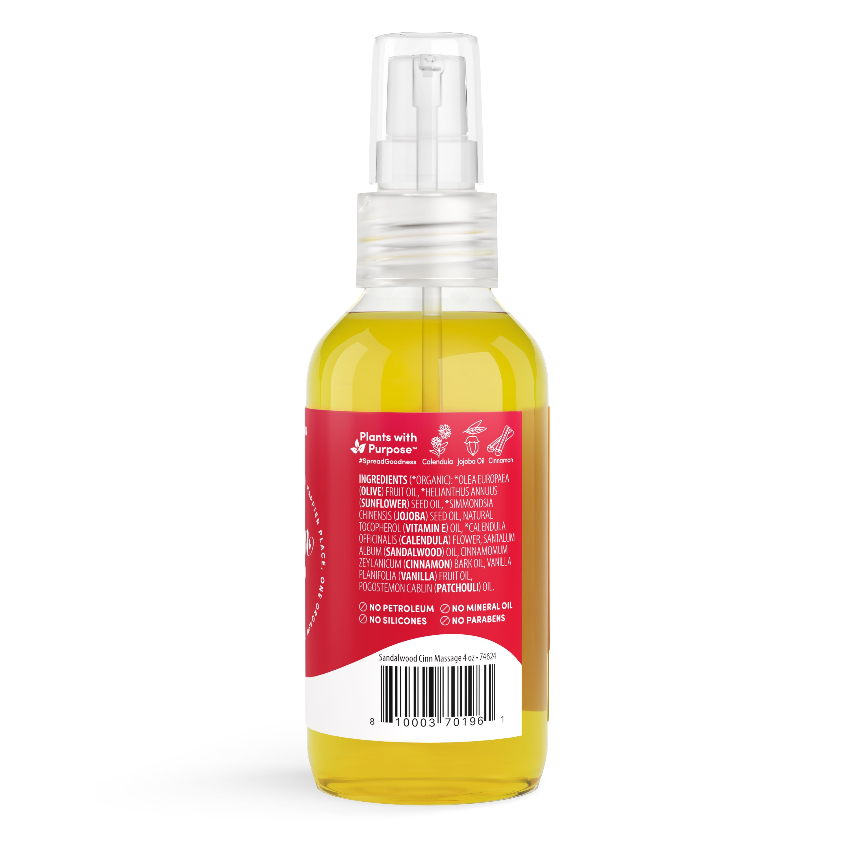 Massage Oil - Sandalwood + Cinnamon