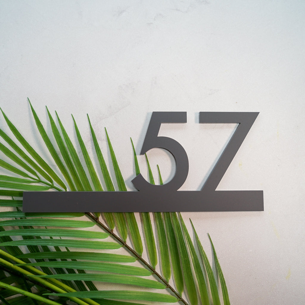 2D Cut Out Acrylic House Number Sign