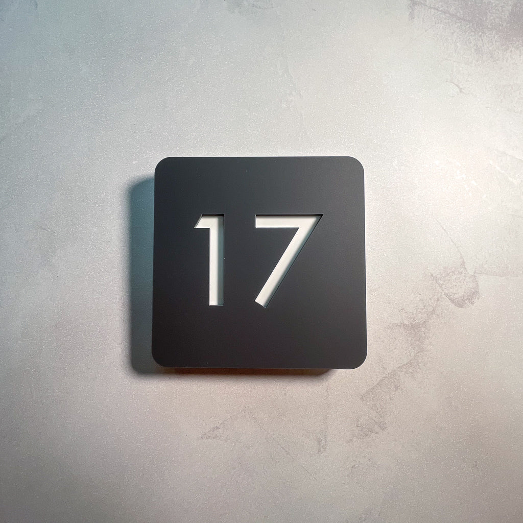 Acrylic House Number Sign