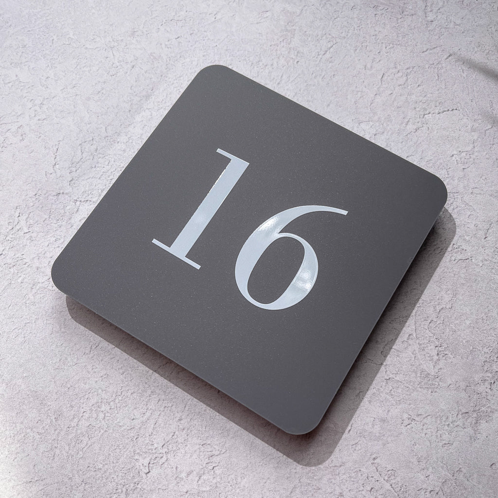 Classic Square 2D House Number Sign