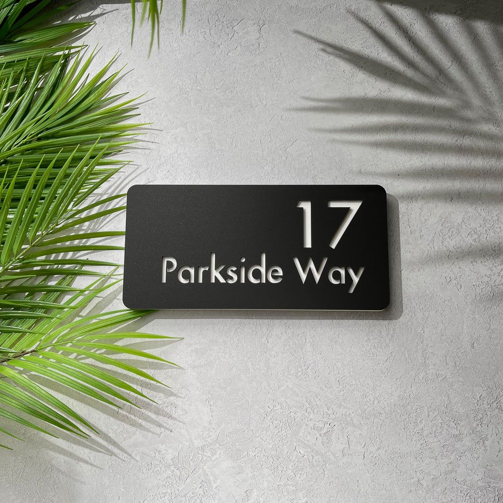 Acrylic House Number & Street Name Sign