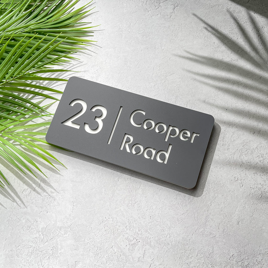 Acrylic House Number & Street Name Sign - version 2