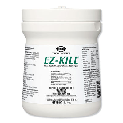 160-ct Clorox EZ-Kill Quat Alcohol Cleaner Disinfectant Wipes