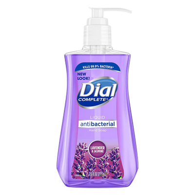 Dial Antibacterial Liquid Hand Soap, Lavender & Twilight Jasmine, 7.5 Fluid Ounces