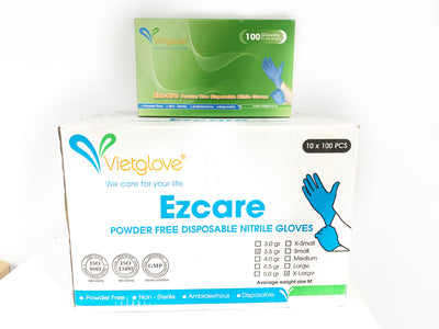 Vietglove Ezcare Powder Free Disposable Nitrile Gloves