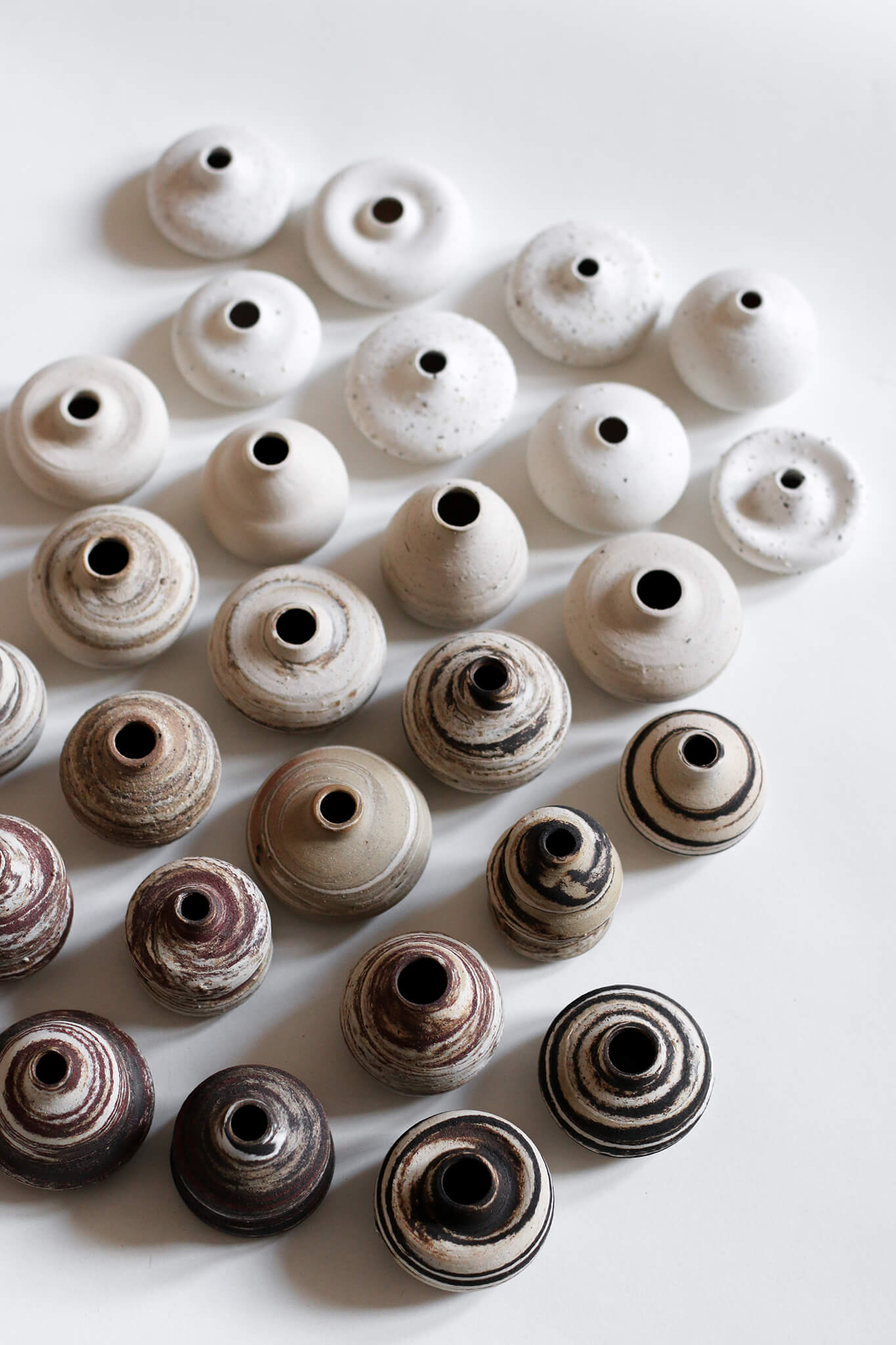 Collection of mini Sandscape Vases by Julija Pustovrh