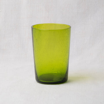 Hand Blown Recycled Glass Tumbler – Apple