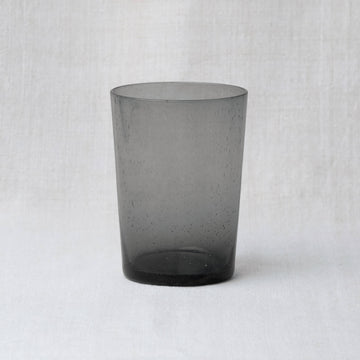 Hand Blown Recycled Tumbler – Charcoal Grey