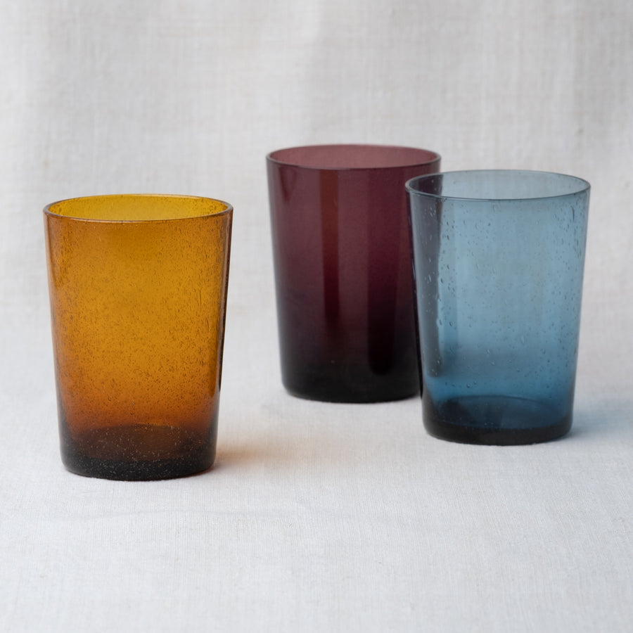 Handblown Recycled Tumbler – Almond