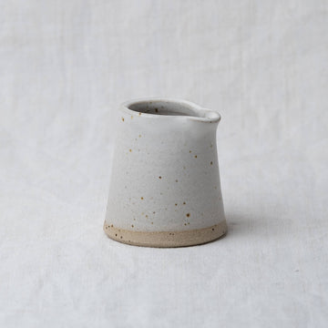 Dor & Tan Milk Jug - Matte White Speckle