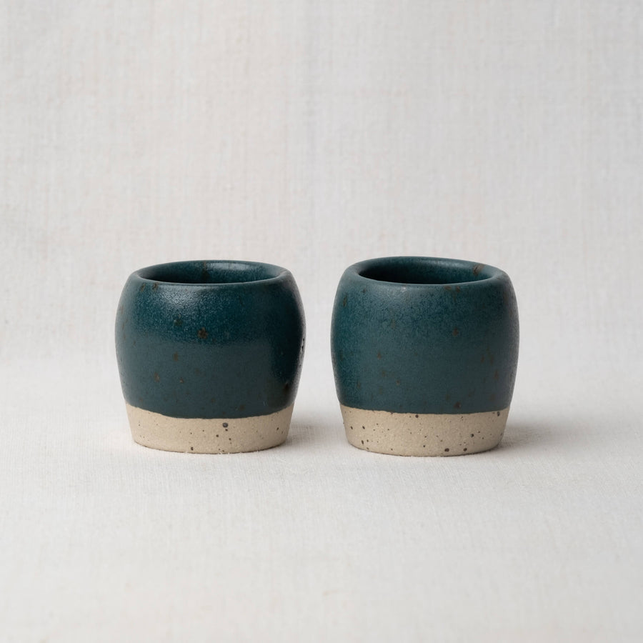 Dor & Tan Espresso Cups Pair - Nori Green Speckled