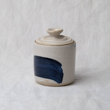 Ella Bua-In Brushstroke Stoneware Storage Pot