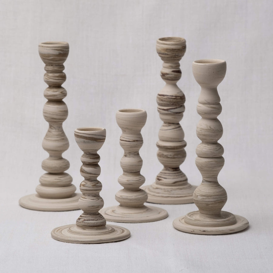Group of Sandscape Candle Holders