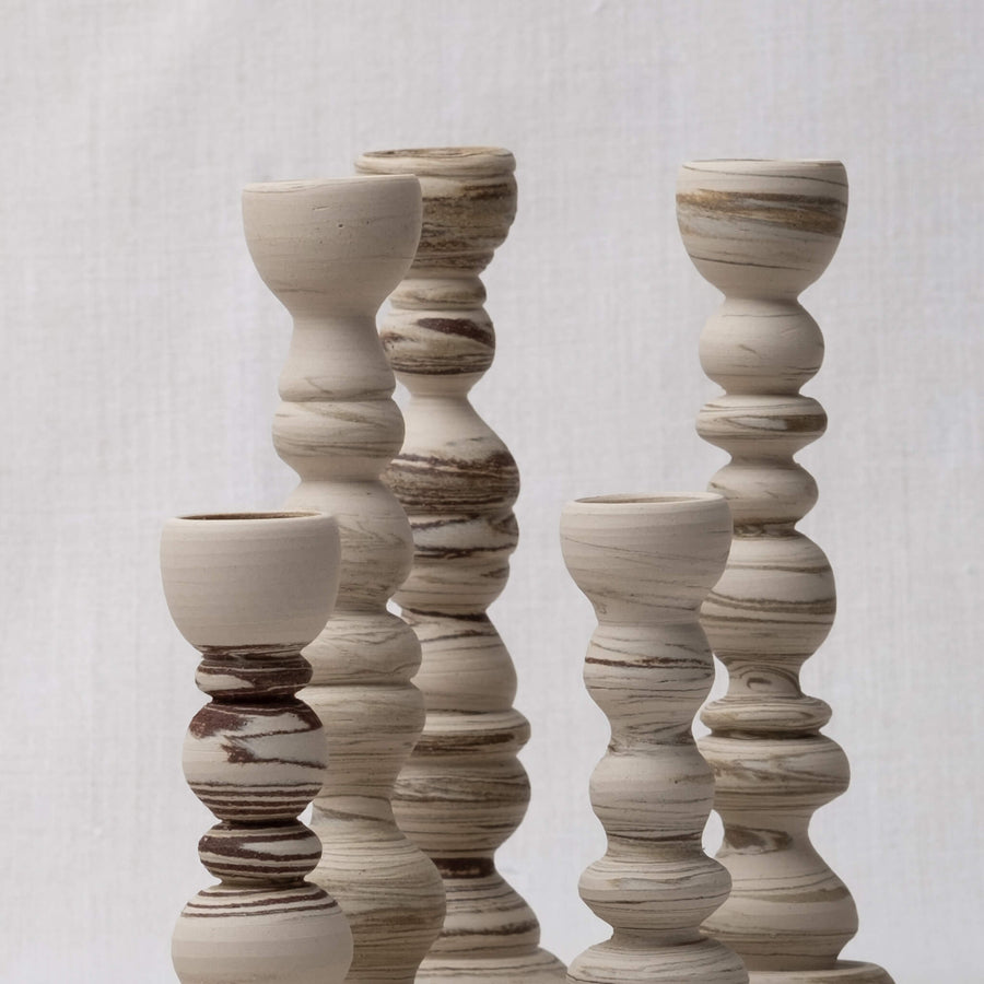 Close up collection of Sandscape Candle Holders