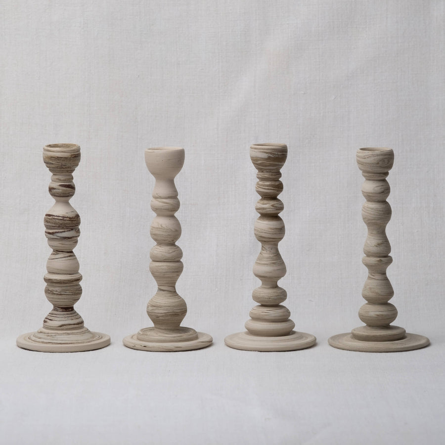 Group of Large Sandscape Candle Holders