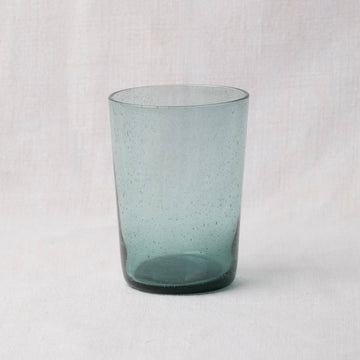 Hand Blown Recycled Glass Tumbler – French Turquoise