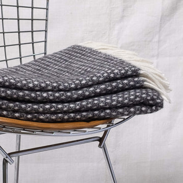 Knut Wool Blanket - Dark Grey