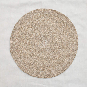 Jute Placemat - Pearl White/Natural
