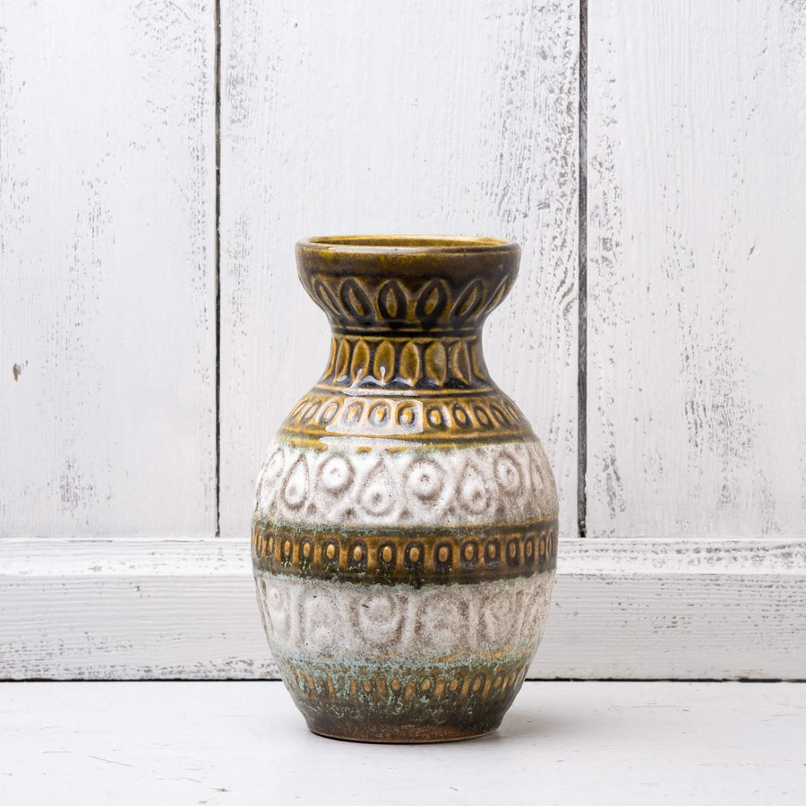 Vintage West German Vase with relief pattern