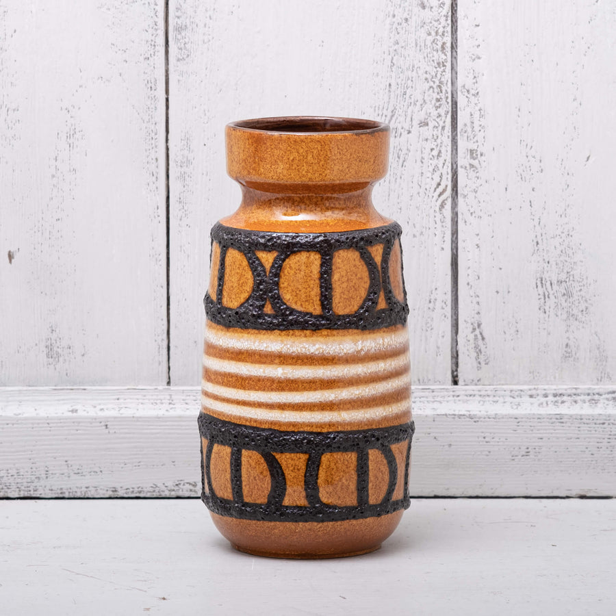 Vintage West German Vase – with lava abstract pattern