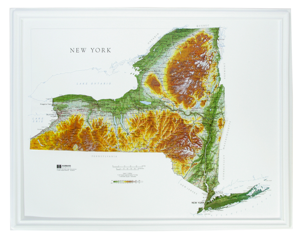 New York Raised Relief Three Dimensional 3D map