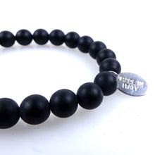 Load image into Gallery viewer, Stone bracelet • TRIBAL Collection • Satin onyx, hematite and 925 silver