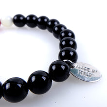 Load image into Gallery viewer, Stone bracelet • TRIBAL Collection • Polished onyx, carnelian, mother of pearl and 925 silver