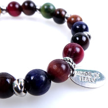 Load image into Gallery viewer, Stone bracelet • NODO Collection • Multicolor tiger eye and 925 silver