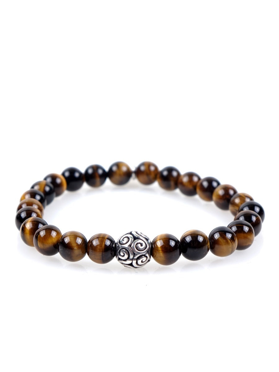 Stone bracelet • TRIBAL Collection • tiger eye and 925 silver