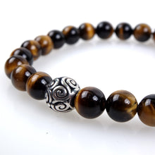 Load image into Gallery viewer, Stone bracelet • TRIBAL Collection • tiger eye and 925 silver