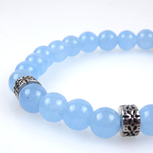 Stone bracelet • TRIBAL Collection • blue agate and 925 silver