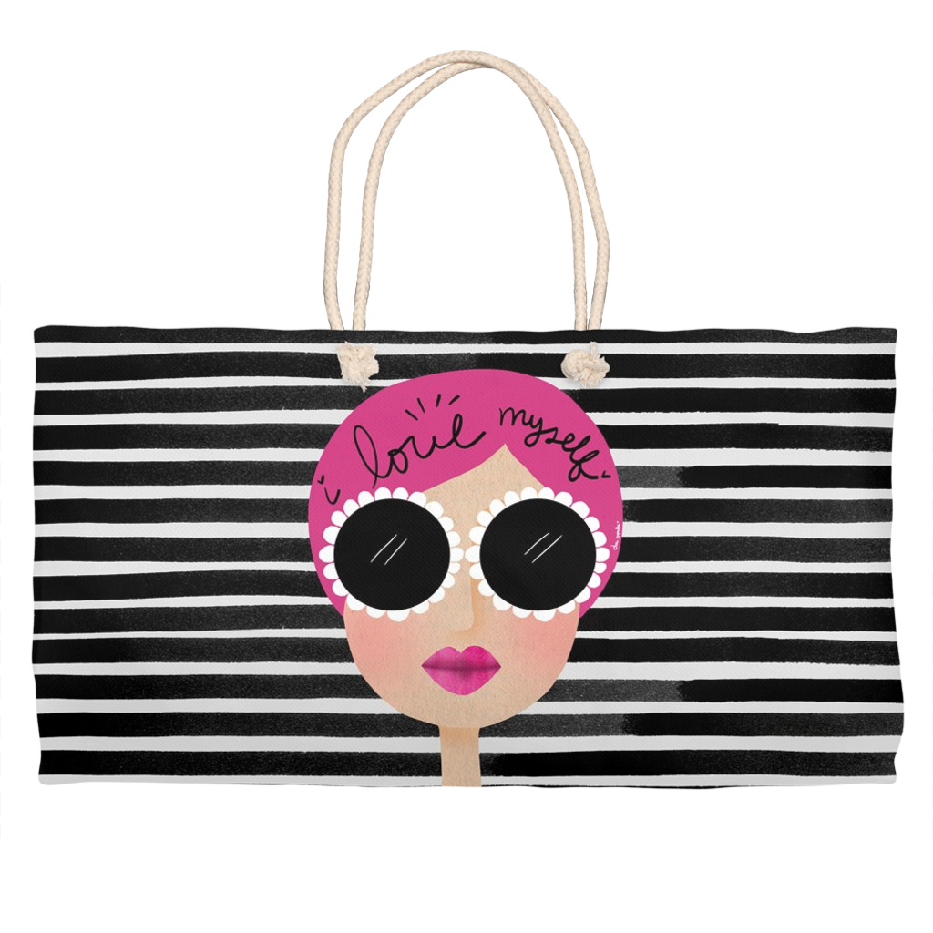 I love myself weekender tote bag