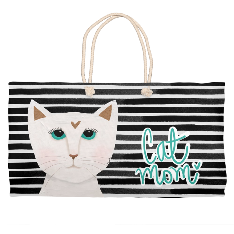 Cat Mom Weekender Tote